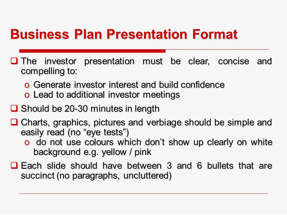 business plan presentation format - ppt download, Powerpoint templates