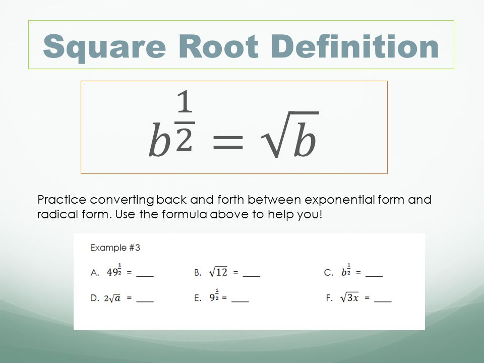 Section 7.3 Rational Exponents - ppt video online download