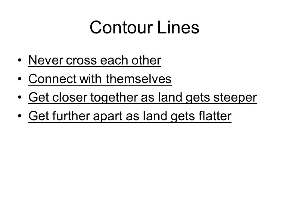 how to connect contour lines to a road