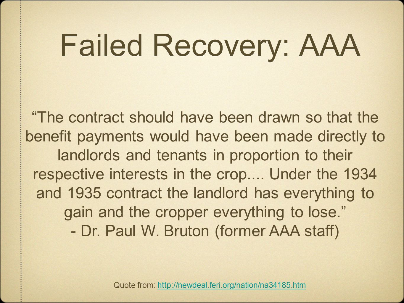 Aaa Quote Roosevelt's First New Deal  Ppt Video Online Download