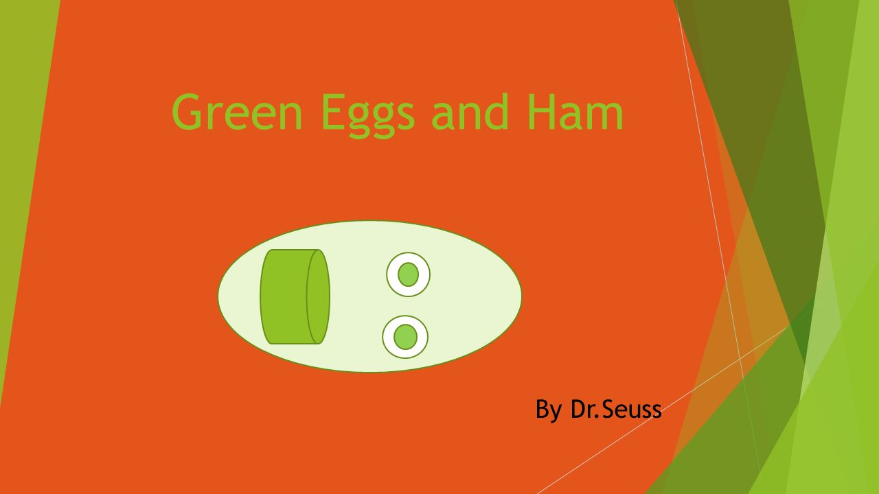 1 Green Eggs And Ham By DrSeuss