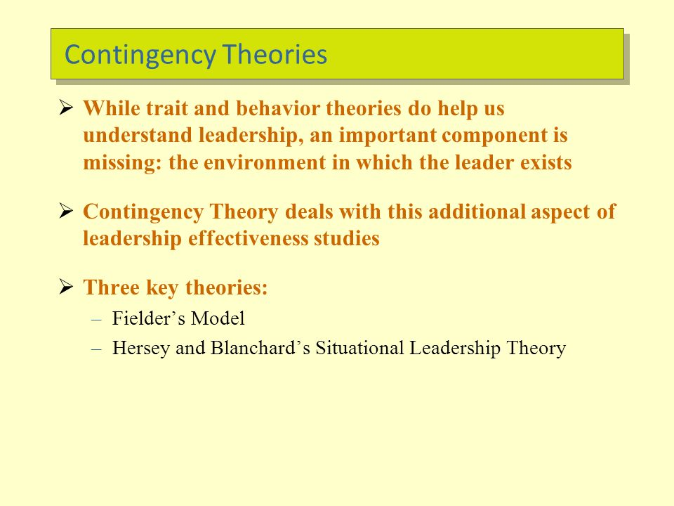 situational leadership theory hersey and b lanchard questionnaire Start studying ch 14 learn according to house's revised path-goal theory, a leader's style should vary in hersey-blanchard's situational leadership.