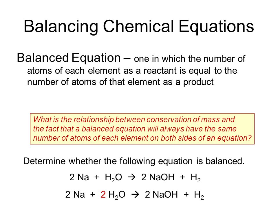 Balancing chemical equations: it's definition, symbols and coefficients