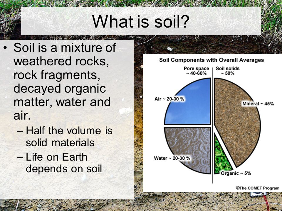 Chapter 5 weathering and soil ppt video online download for What 5 materials make up soil