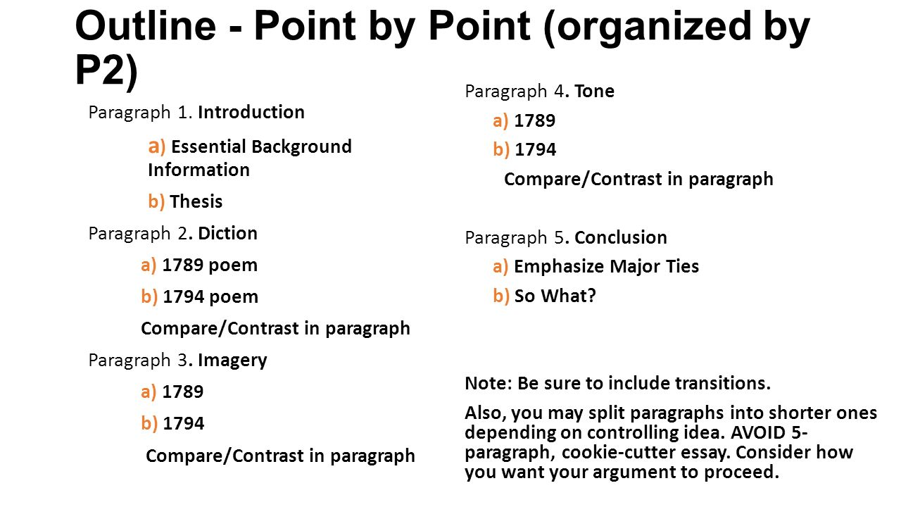 Compare and contrast essay instructions