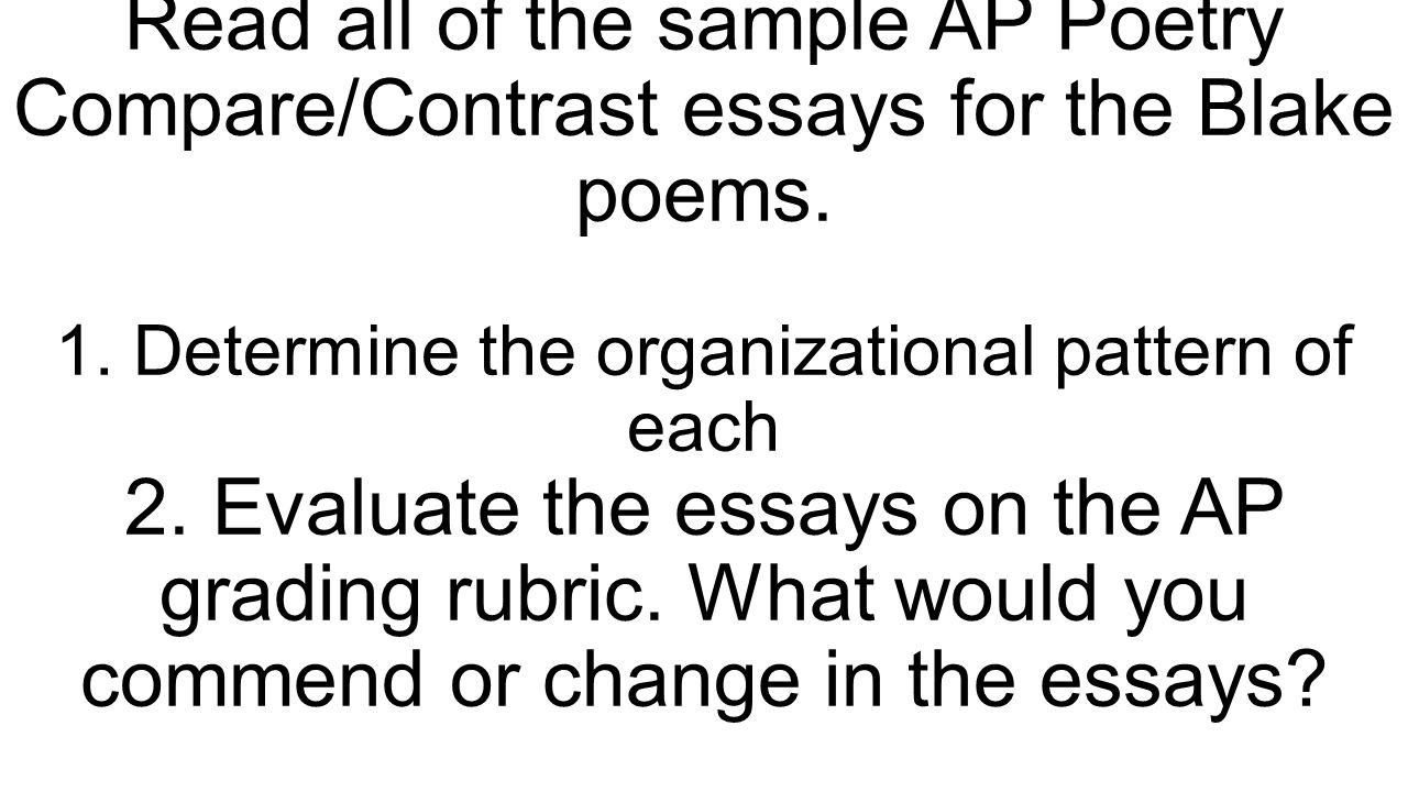comparing and contrasting the poems essay Poem comparison essays:  a comparison of love in othello and king lear comparison poem a comparison and contrast.