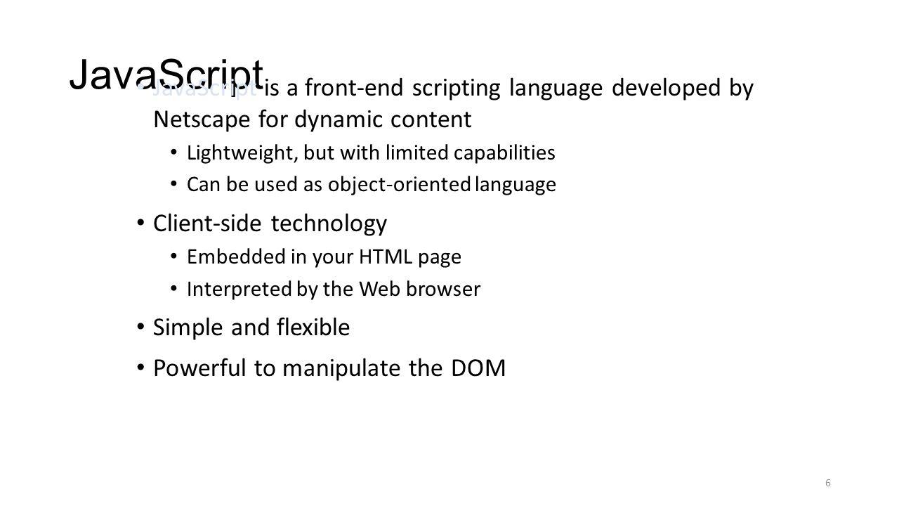 Javascripts - 6 Javascript Javascript