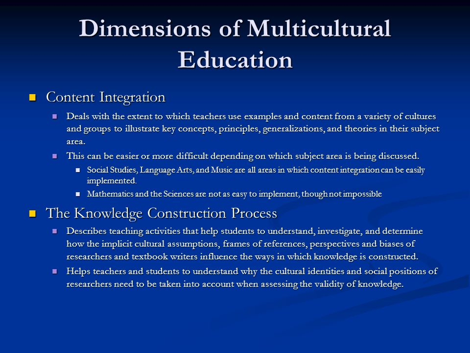 teaching multicultural education The failure of major educational reform efforts to acknowledge the multicultural needs of tomorrow's teachers illustrates the marginal status that issues of multicultural education and.