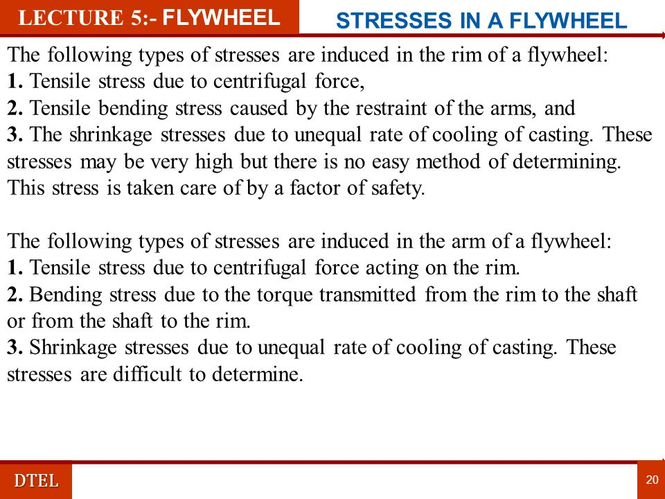 The following types of stresses are induced in the rim of a flywheel:
