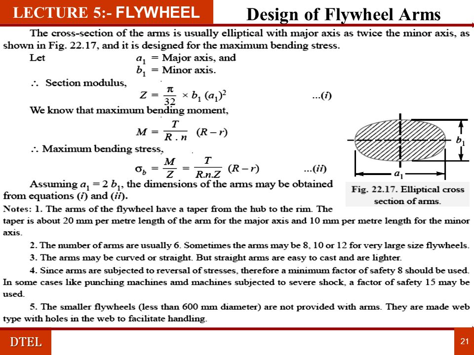 Design of Flywheel Arms