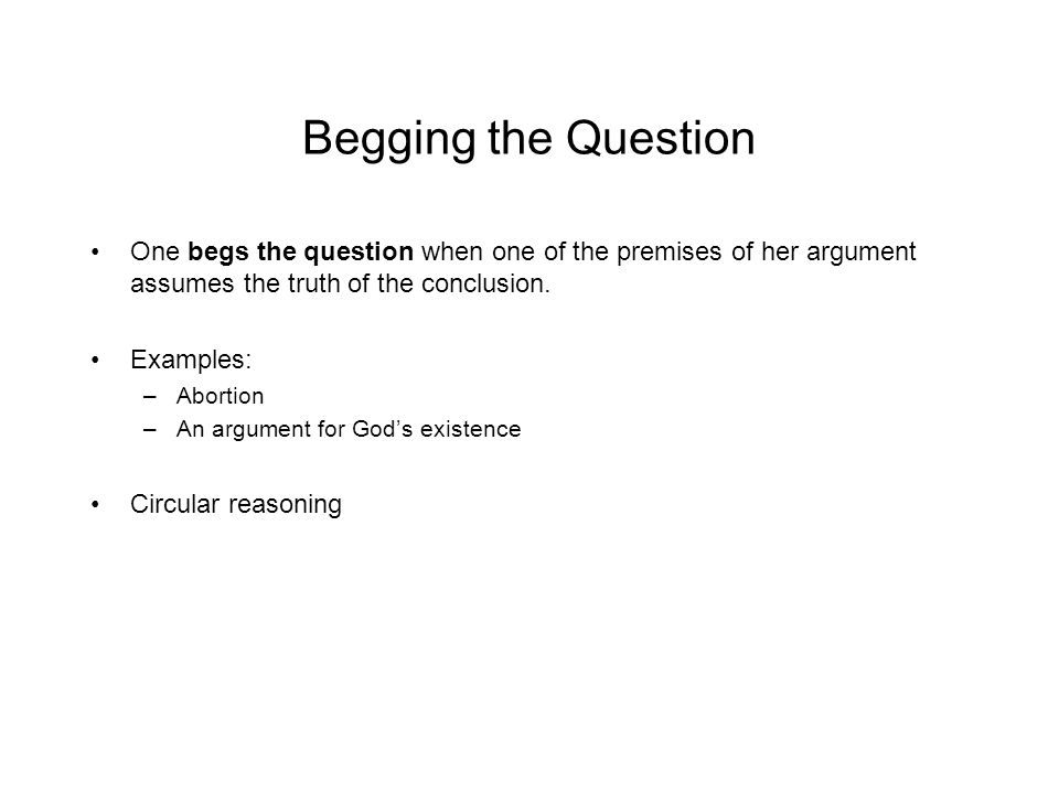 Begging The Question Examples Choice Image Example Cover Letter