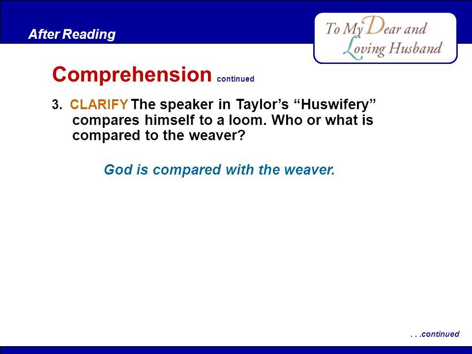 Comprehension continued