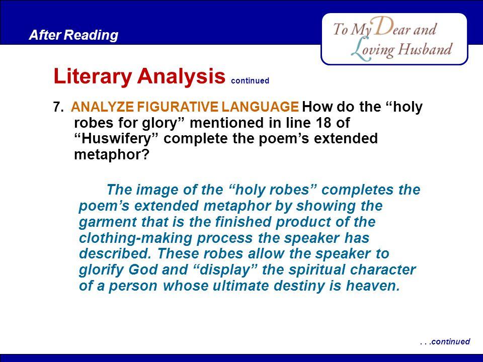 Literary Analysis continued