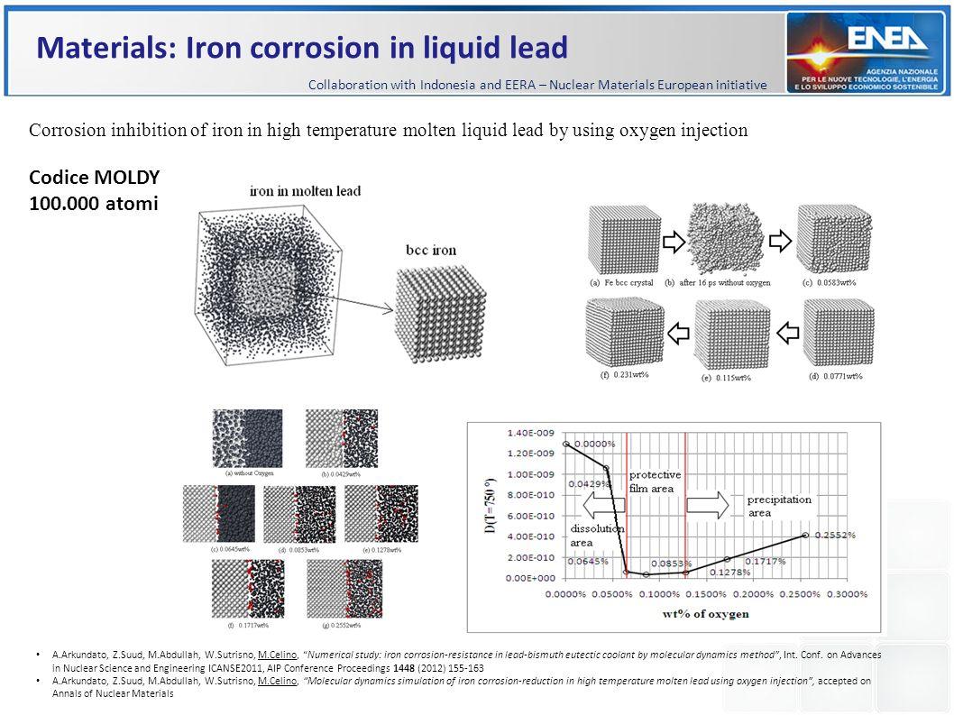 Materials: Iron corrosion in liquid lead