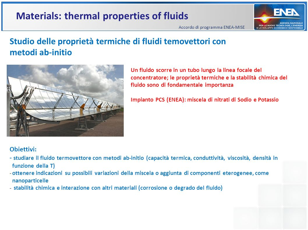 Materials: thermal properties of fluids
