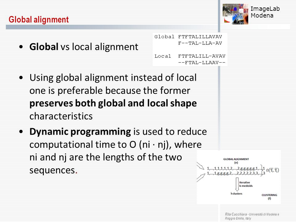 Global vs local alignment