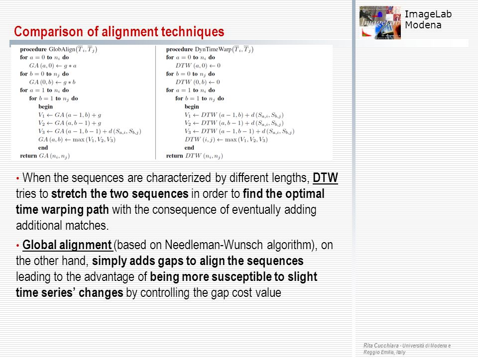 Comparison of alignment techniques