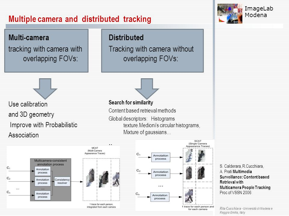 Multiple camera and distributed tracking