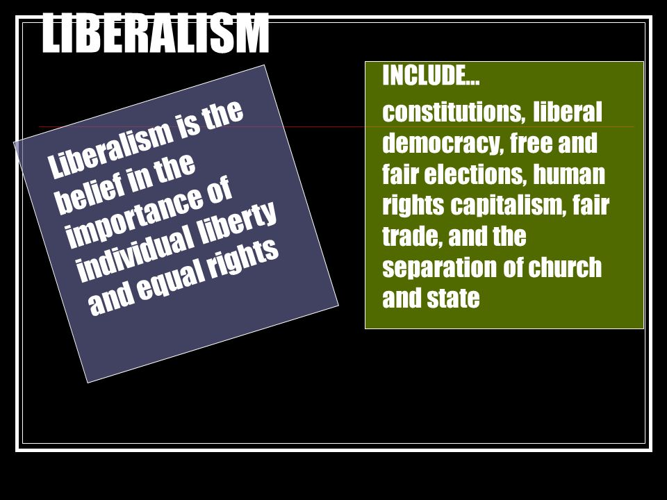 compare and contrast american liberalism and The national liberal party is a political party supporting the principle of national liberalism.