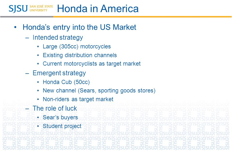 """distribution channels of honda Rick benjamin is one of the most  benjamin will also host and executive produce """"honda  and a long list of national and regional sports channels and."""