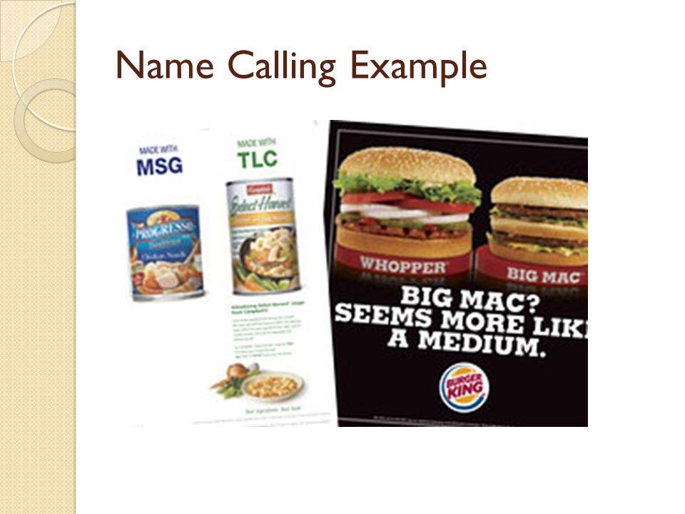 Name Calling: Image Name Technique