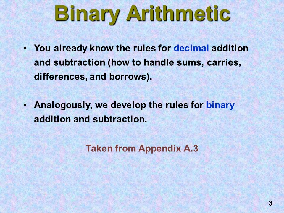 Binary subtraction rules ppt