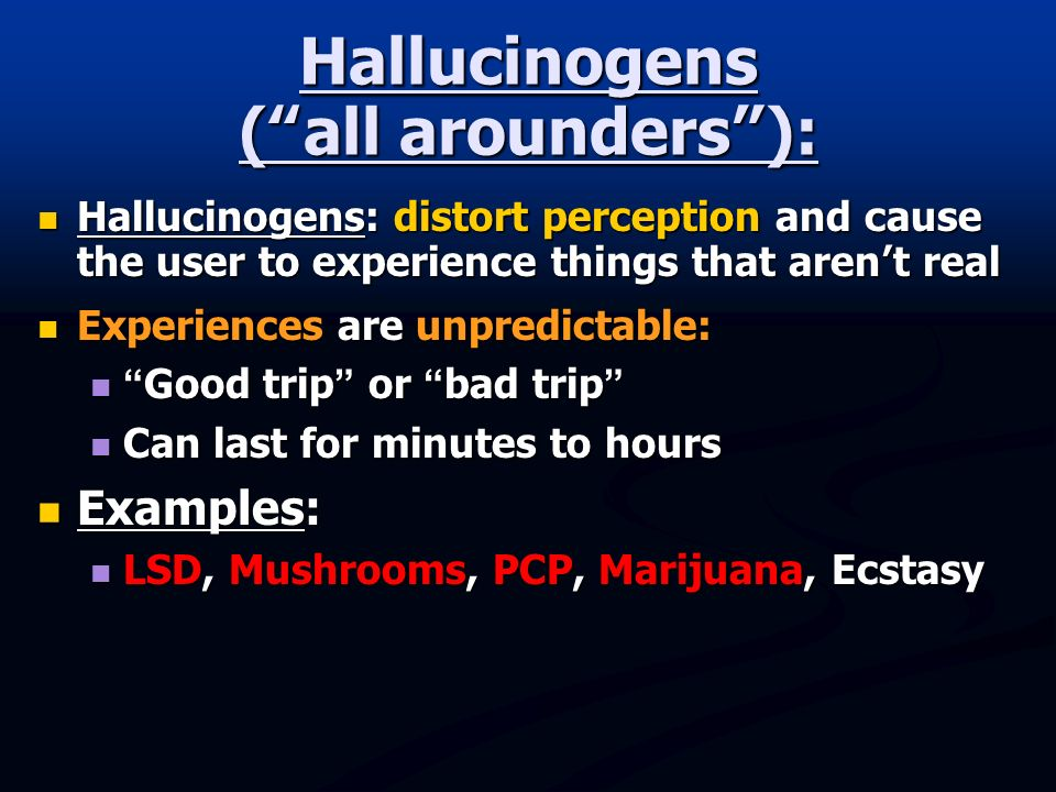hallucinogens and the unpredictable effects on the human body Drugs that effect your perception by taranisa in drugs.