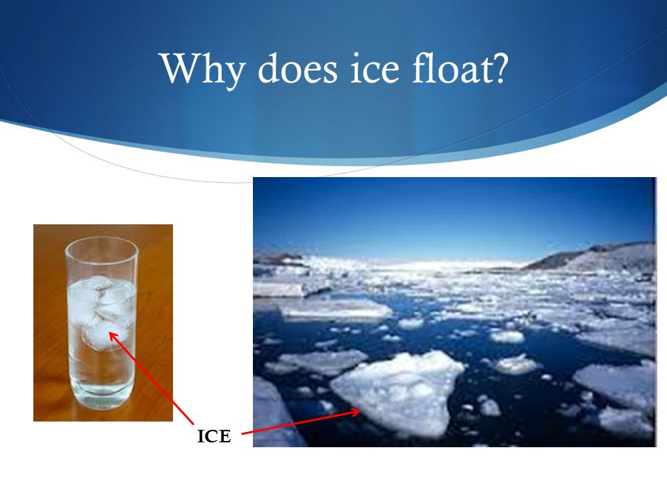 Why does ice float ICE