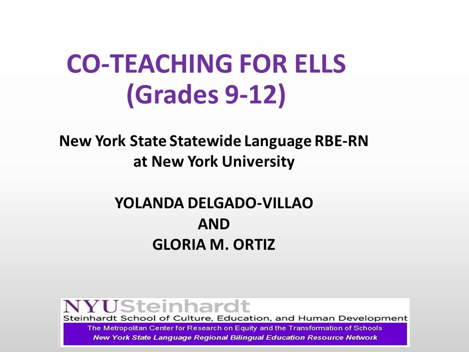 Co Teaching For Ells Grades 9 12 Ppt Video Online Download