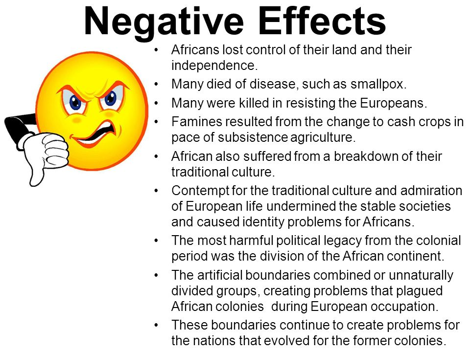 negative effects of colonialism in africa pdf