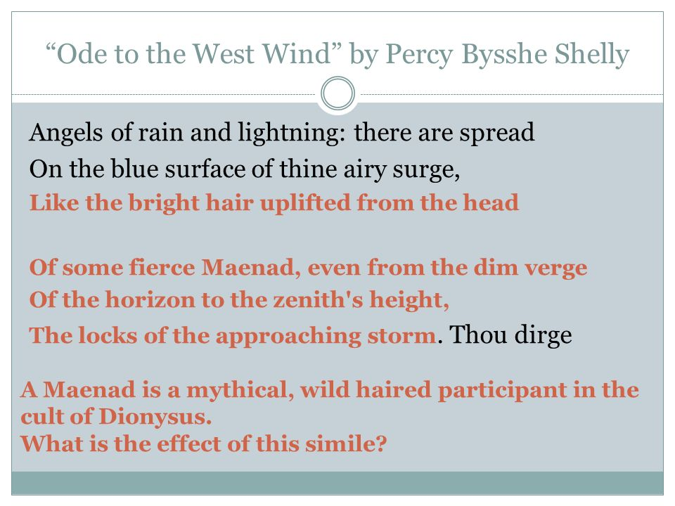 shelley s ode to the west wind Shelley's ode to the west wind created date: 20160808150112z.