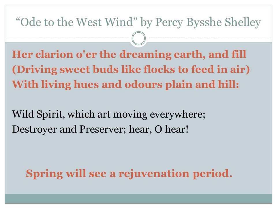 shelley ode to the west wind pdf