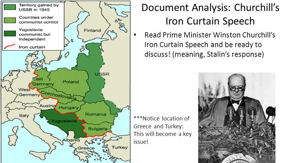 Document Analysis: Churchillu0027s Iron Curtain Speech