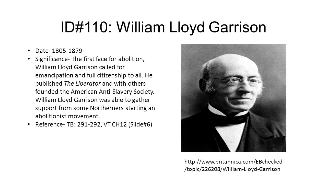 essay on william lloyd garrison