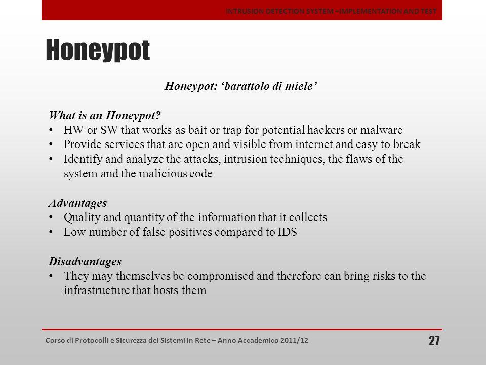 Honeypot: 'barattolo di miele'
