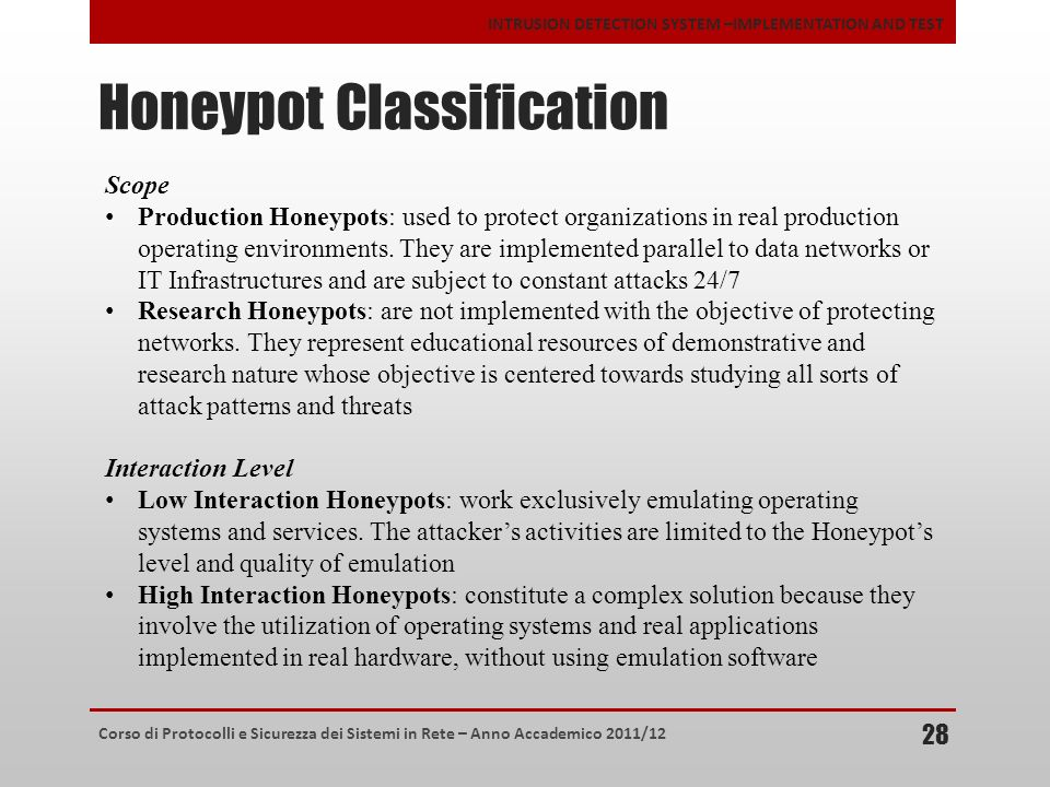 Honeypot Classification