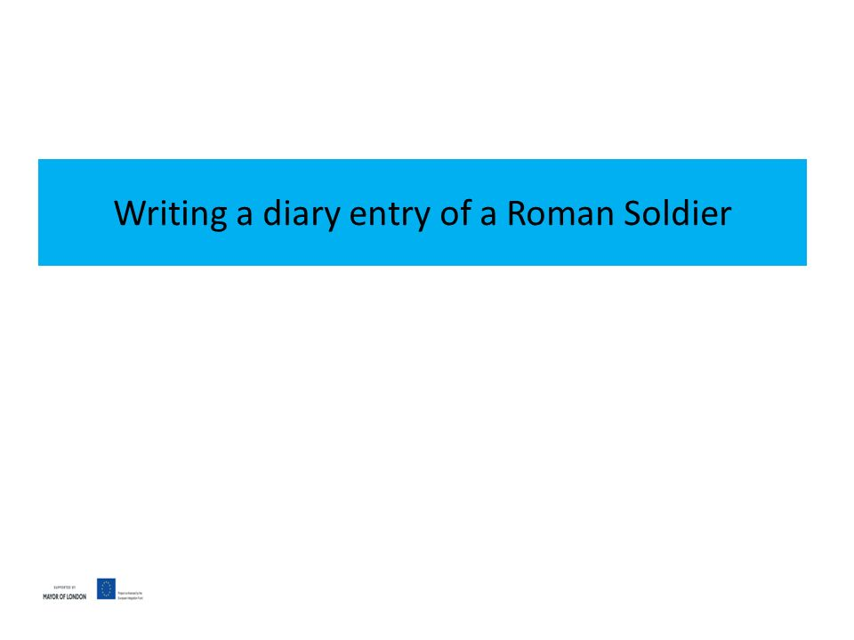 diary entry from a soldier With the advent of the world wide web, an opportunity arose for the descendants of many survivors to publish fragments of diary entries for the education and interest of others.