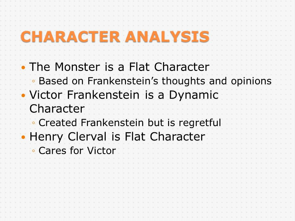 frankenstein x character analysis Frankenstein study guide contains a biography of mary shelley, literature essays, a complete e-text, quiz questions, major themes, characters, and a full summary and analysis.