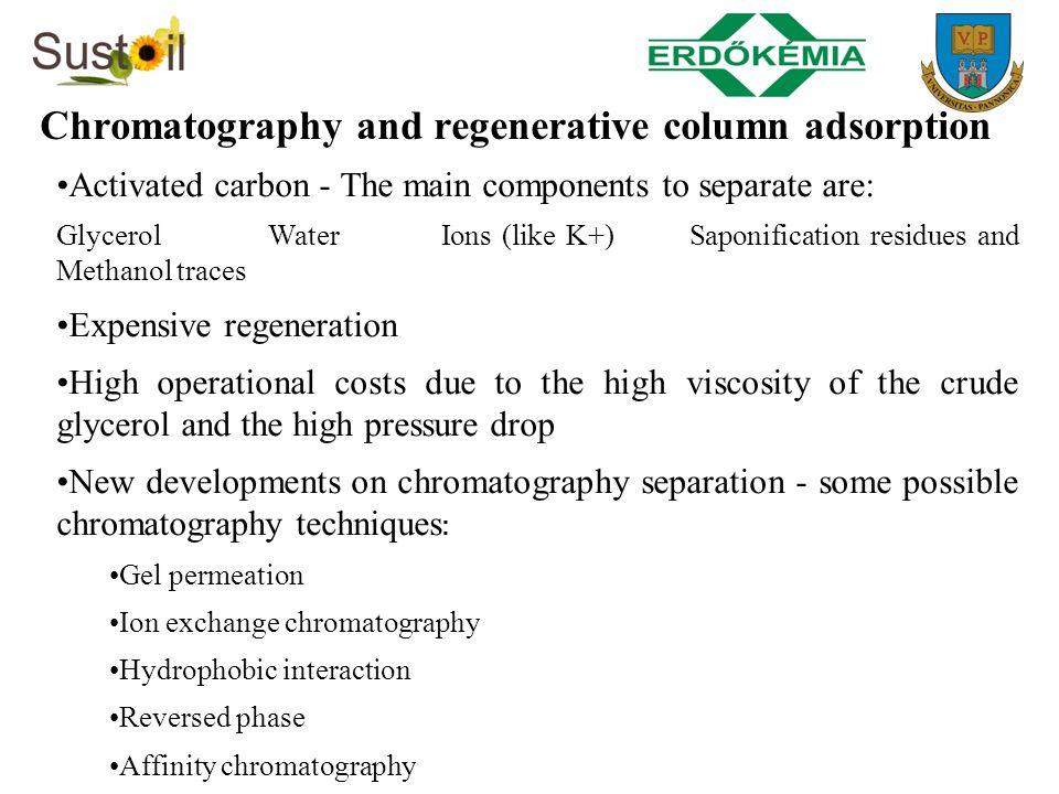 Chromatography and regenerative column adsorption