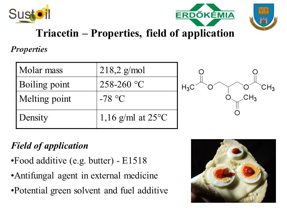 Triacetin – Properties, field of application