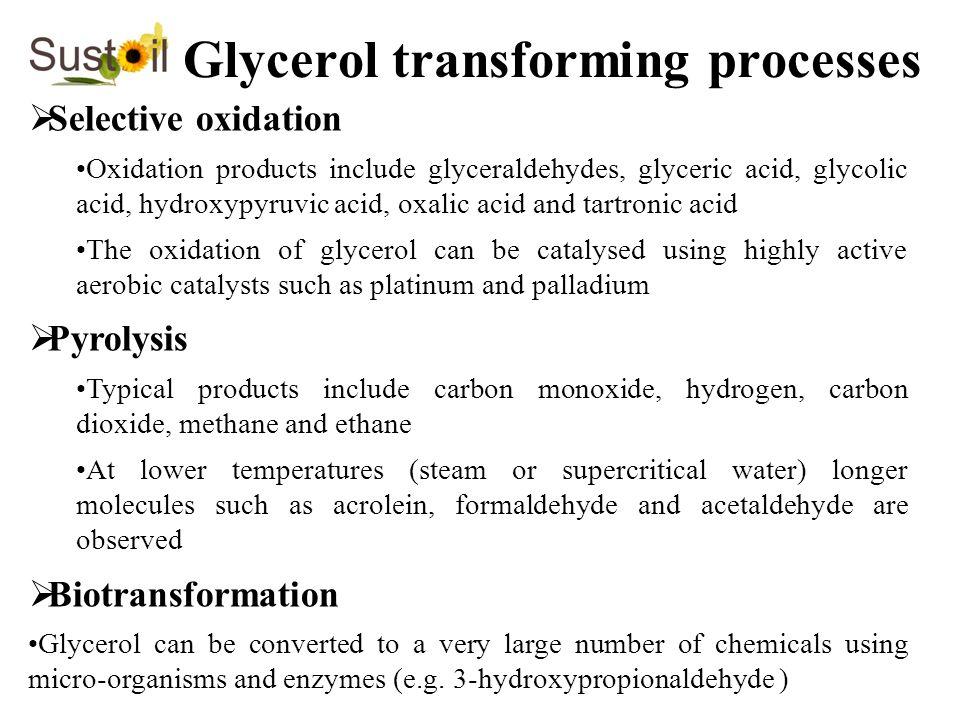 Glycerol transforming processes