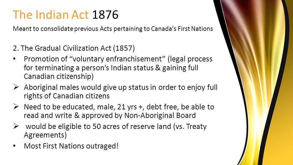 Essay/Term paper: Canadian indian act