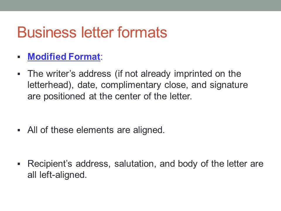 Business letter format download