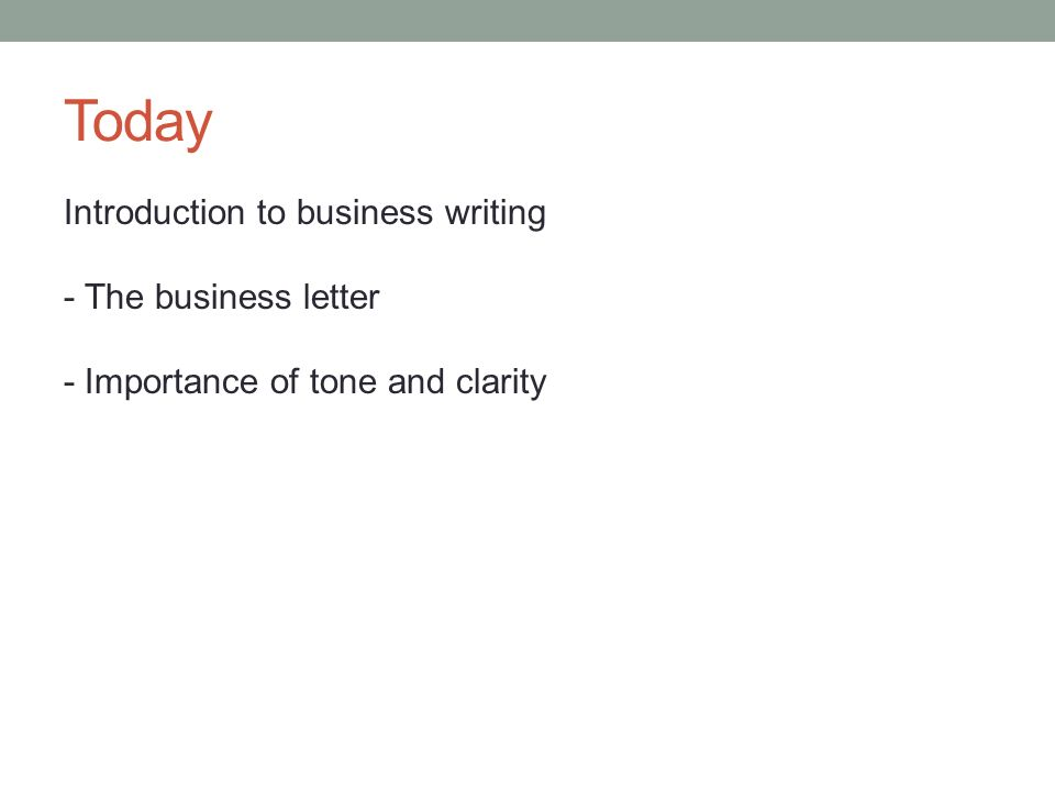 Formal tone in business writing