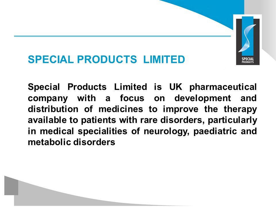 SPECIAL PRODUCTS LIMITED