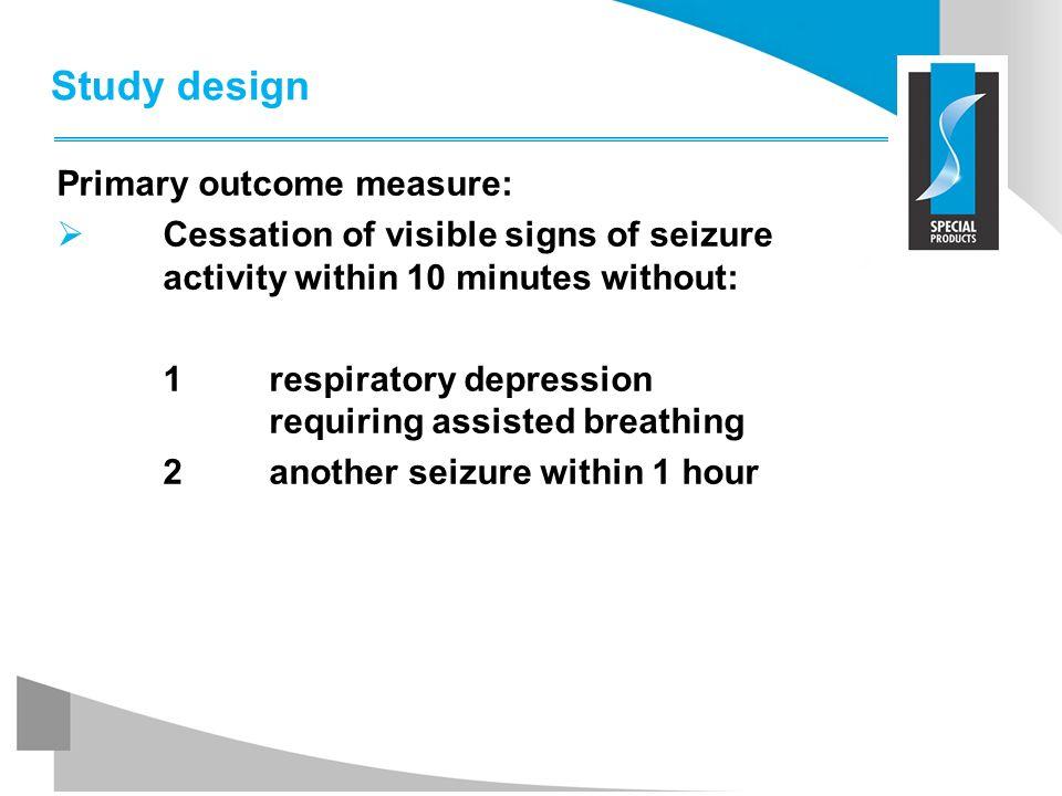 Study design Primary outcome measure: