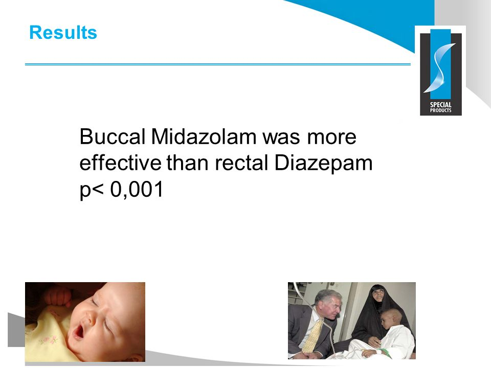 Buccal Midazolam was more effective than rectal Diazepam p< 0,001