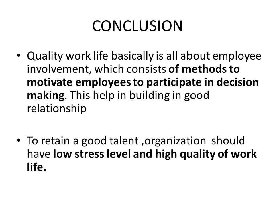 quality work life A literature review on quality of work life and leadershipstyles t s nanjundeswaraswamy, dr swamy d r assistant professor, department of industrial engineering.