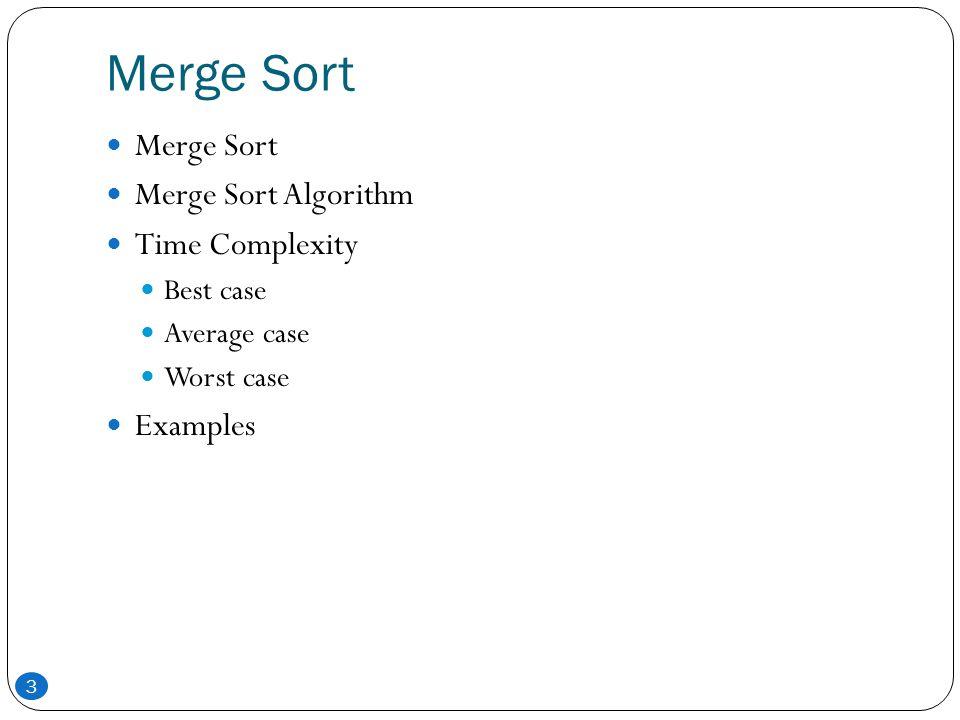merge sort algorithm with example pdf