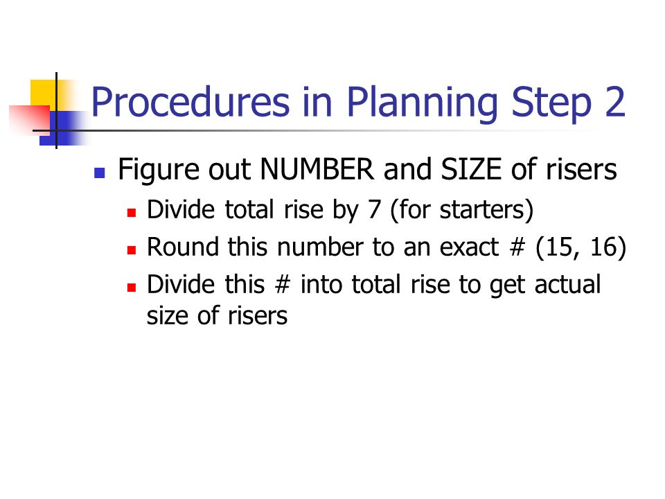 Procedures in Planning Step 2